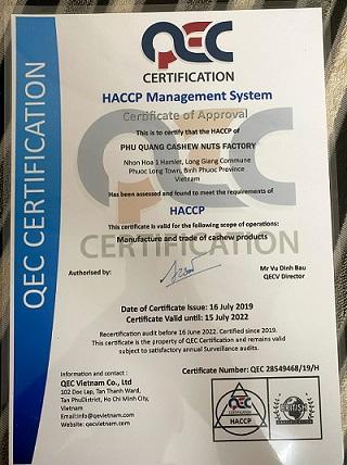 haccp phu quang